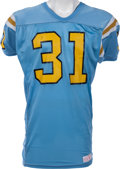Football Collectibles:Uniforms, 1985-88 Carnell Lake Game Worn UCLA Bruins Jersey. ...