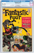 Silver Age (1956-1969):Superhero, Fantastic Four #2 (Marvel, 1962) CGC FN- 5.5 Off-white to white pages....