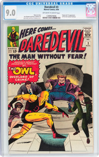 Daredevil #3 (Marvel, 1964) CGC VF/NM 9.0 Off-white to white pages
