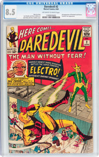 Daredevil #2 (Marvel, 1964) CGC VF+ 8.5 Off-white to white pages