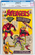 Silver Age (1956-1969):Superhero, The Avengers #2 (Marvel, 1963) CGC VF 8.0 Off-white to white pages....