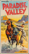 "Movie Posters:Western, Paradise Valley (Imperial, 1934). Three Sheet (41"" X 76""). Western.. ..."