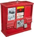 Baseball Collectibles:Others, 1950's Trading Card & Bubble Gum Vending Machine WithUncirculated Cards. ...
