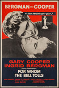 "Movie Posters:War, For Whom the Bell Tolls (Paramount, R-1957). Poster (40"" X 60"").War.. ..."