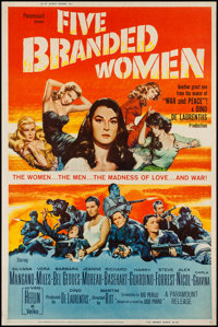"Five Branded Women & Other Lot (Paramount, 1960). Posters (2) (40"" X 60""). War. ... (Total: 2 Items)"