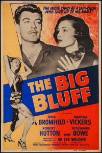 "The Big Bluff (United Artists, 1955). Silk Screen Poster (40"" X 60""). Crime"