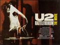 "Movie Posters:Rock and Roll, U2: Rattle and Hum (Paramount, 1988). British Quad (29.75"" X39.75""). Rock and Roll.. ..."