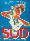"""Movie Posters:Miscellaneous, Sud (1950s). French Soft Drink Advertising Poster (44.5"""" X 61""""). Miscellaneous.. ..."""