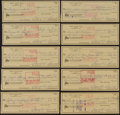 Golf Collectibles:Autographs, 1976 Sam Snead Signed Checks Lot of 10. ...