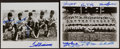 Autographs:Photos, Baseball Legends Multi Signed Photographs Lot Of Two (12Signatures)....