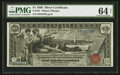 Large Size:Silver Certificates, Fr. 224 $1 1896 Silver Certificate PMG Choice Uncirculated 64 Net.. ...