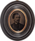 Political:Ferrotypes / Photo Badges (pre-1896), George McClellan: Tintype Wall Plaque....