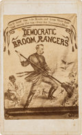 Political:Small Paper (pre-1896), Horatio Seymour: CDV of New Orleans Parade Banner....