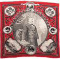 Political:Textile Display (pre-1896), Grover Cleveland: Graphic and Desirable Bandanna....