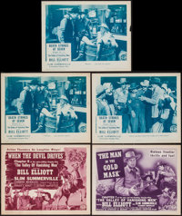 "The Valley of Vanishing Men (Columbia, 1942). Title Lobby Cards (2) & Lobby Cards (3) (11"" X 14"") Chap..."