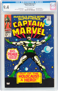 Captain Marvel #1 (Marvel, 1968) CGC NM 9.4 Off-white to white pages