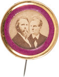 Political:Ferrotypes / Photo Badges (pre-1896), Hayes & Wheeler: The Mate to the Tilden & Hendricks JugateAlso Offered in this Auction....