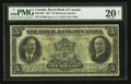 Canadian Currency: , Montreal, PQ- The Royal Bank of Canada $5 Jan. 3, 1927 Ch #630-14-02. ...