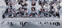 HOWARD SCHATZ (American, b. 1940) The Last Supper Underwater, 2005 Dye destruction 20 x 44 inche