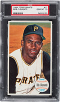Baseball Cards:Singles (1960-1969), 1964 Topps Giants Roberto Clemente #11 PSA Gem Mint 10 - Pop Two!...