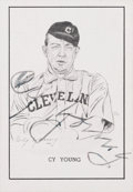 Autographs:Sports Cards, Signed 1950 Callahan Hall of Fame Cy Young Card SGC Authentic....