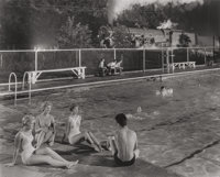 O. WINSTON LINK (American, 1914-2001) Swimming Pool at Welch, West Virginia, 1958 Gelatin silver, pr