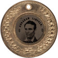 Political:Ferrotypes / Photo Badges (pre-1896), Lincoln & Hamlin: A Spectacular Pristine 1860 Ferro in anUnlisted Frame. ...