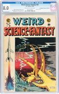 Golden Age (1938-1955):Science Fiction, Weird Science-Fantasy #28 Don/Maggie Thompson Collection pedigree(EC, 1955) CGC VF 8.0 Off-white to white pages....