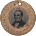Political:Ferrotypes / Photo Badges (pre-1896), Bell & Everett: A Classic 1860-dated Ferrotype. ...