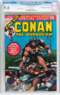 Bronze Age (1970-1979):Miscellaneous, Conan the Barbarian Annual #1 Don/Maggie Thompson Collectionpedigree (Marvel, 1973) CGC NM+ 9.6 White pages....