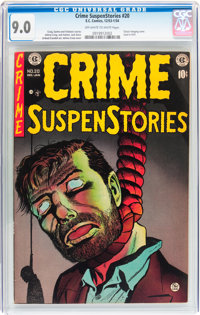 Crime SuspenStories #20 (EC, 1953) CGC VF/NM 9.0 Off-white to white pages