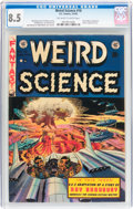 Golden Age (1938-1955):Science Fiction, Weird Science #18 (EC, 1953) CGC VF+ 8.5 Off-white to whitepages....