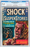 Golden Age (1938-1955):Horror, Shock SuspenStories #7 (EC, 1953) CGC VF- 7.5 Off-white to whitepages....