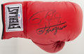 Boxing Collectibles:Autographs, Joe Frazier and Roy Jones Jr. Multi Signed Boxing Glove....