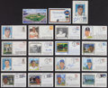 Autographs:Post Cards, Baseball Greats Signed Cachets And Postcards Lot Of 19....