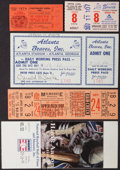 Baseball Collectibles:Tickets, Hank Aaron Ticket Collection including 100th HR, #714 And #715....