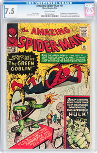 The Amazing Spider-Man #14 (Marvel, 1964) CGC VF- 7.5 Off-white pages