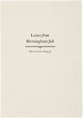 Books:Biography & Memoir, Martin Luther King, Jr. Letter from Birmingham Jail. Stamford: Overbrook Press, [1968]. Edition of 600 copies. Slim ...