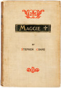 Books:Literature Pre-1900, Stephen Crane. Maggie. New York: D. Appleton, 1896. Firstedition, first issue (after the pseudonymously published 1...