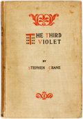 Books:Literature Pre-1900, Stephen Crane. The Third Violet. New York: D. Appleton,1897. First edition. Publisher's tan cloth. Soiled, with a d...