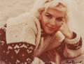 Photographs:Chromogenic, GEORGE BARRIS (American, b. 1928). Sweater Close-Up, The Last Shoot, 1962. Chromogenic, 1987. 10-3/8 x 13-3/8 inches (26...