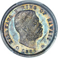 Coins of Hawaii, 1883 10C Hawaii Ten Cents PR64 PCGS. CAC....