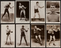 "Boxing Cards:General, Vintage J. Beagles & Co. ""Famous Boxers"" Series of RealPhotograph Post Cards Collection (25) With Dempsey. ..."