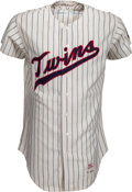 Baseball Collectibles:Uniforms, 1967 Harmon Killebrew Game Worn Minnesota Twins Jersey, MEARS A9.5....