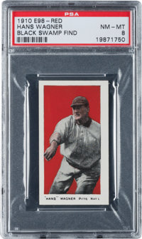 "1910 E98 ""Set of 30"" Honus Wagner (Black Swamp Find) PSA NM-MT 8"