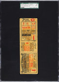 Baseball Collectibles:Tickets, 1927 World Series Game Four Full Ticket, SGC Authentic....