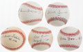Autographs:Baseballs, Negro League Greats Single Signed Baseballs Lot Of 5....
