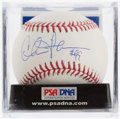 Autographs:Baseballs, Charlie Sheen Single Signed Baseball, PSA Mint 9....