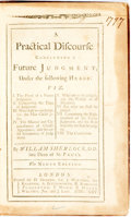 Books:Religion & Theology, William Sherlock. A Practical Discourse Concerning a Future Judgment...London: D. Browne, et al, 1725. Ninth edition...