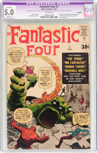 Fantastic Four #1 (Marvel, 1961) CGC Apparent VG/FN 5.0 Slight (A) Cream pages